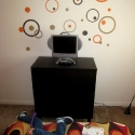 Orange Bubble Wall Decals