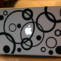 bubbles macbook decal