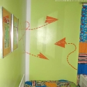 children plane wall stickers