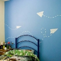 paper airplane wall stickers