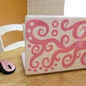 pinkscrollslaptopdecal