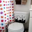 toilet tank cityscape decal