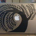 weeping willow laptop decal