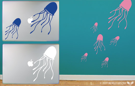 Jellyfish Vinyl Decals