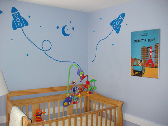 Rocket Ship Wall Decals