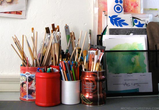 Michelle Christina's Art Studio Space