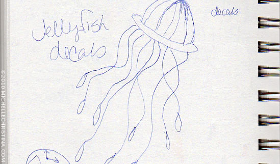 Jellyfish Wall Decal Sketch
