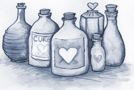 love potion drawing by michelle christina