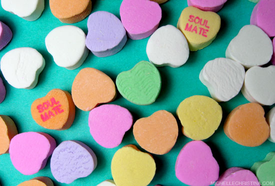 soulmate conversation hearts by michelle christina