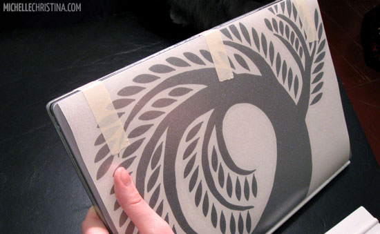 How to apply a laptop decal step 2