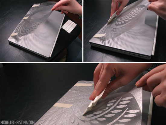 How to apply a vinyl laptop decal 5