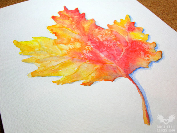 Autumn Leaves Watercolor Painting by Pam Houle
