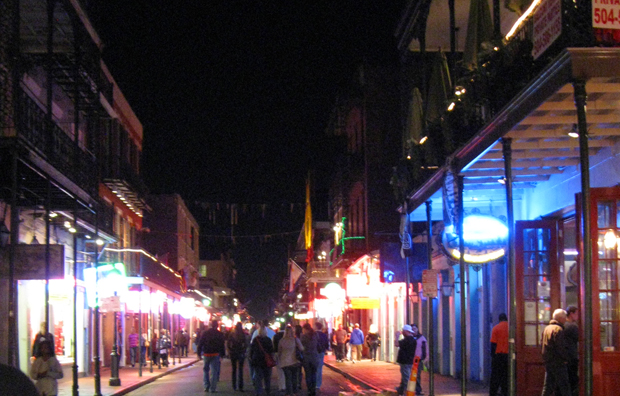 bourbon street french quarter new orleans louisiana