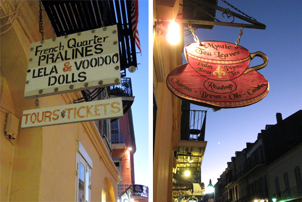 new orleans french quarter handpainted signs