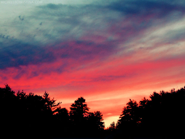 white mountains nh sunset photo by michelle christina