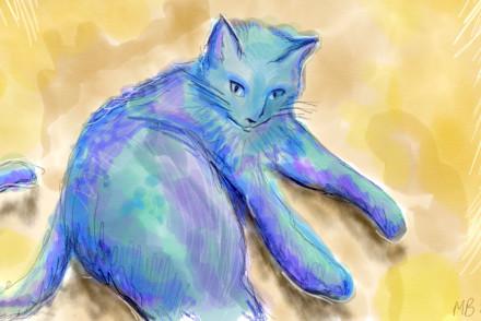 mojo kitty cat sketch